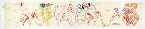 NANCY SPERO To the revolution, 1981 Handdruck, Malerei und Collage auf Papier 52 x 288 cm Courtesy Barbara Gross Galerie, MŸnchen