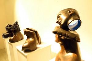 نمایشگاه+مجسمههای+قدرتالله+عاقلی+در+گالری+ساربان