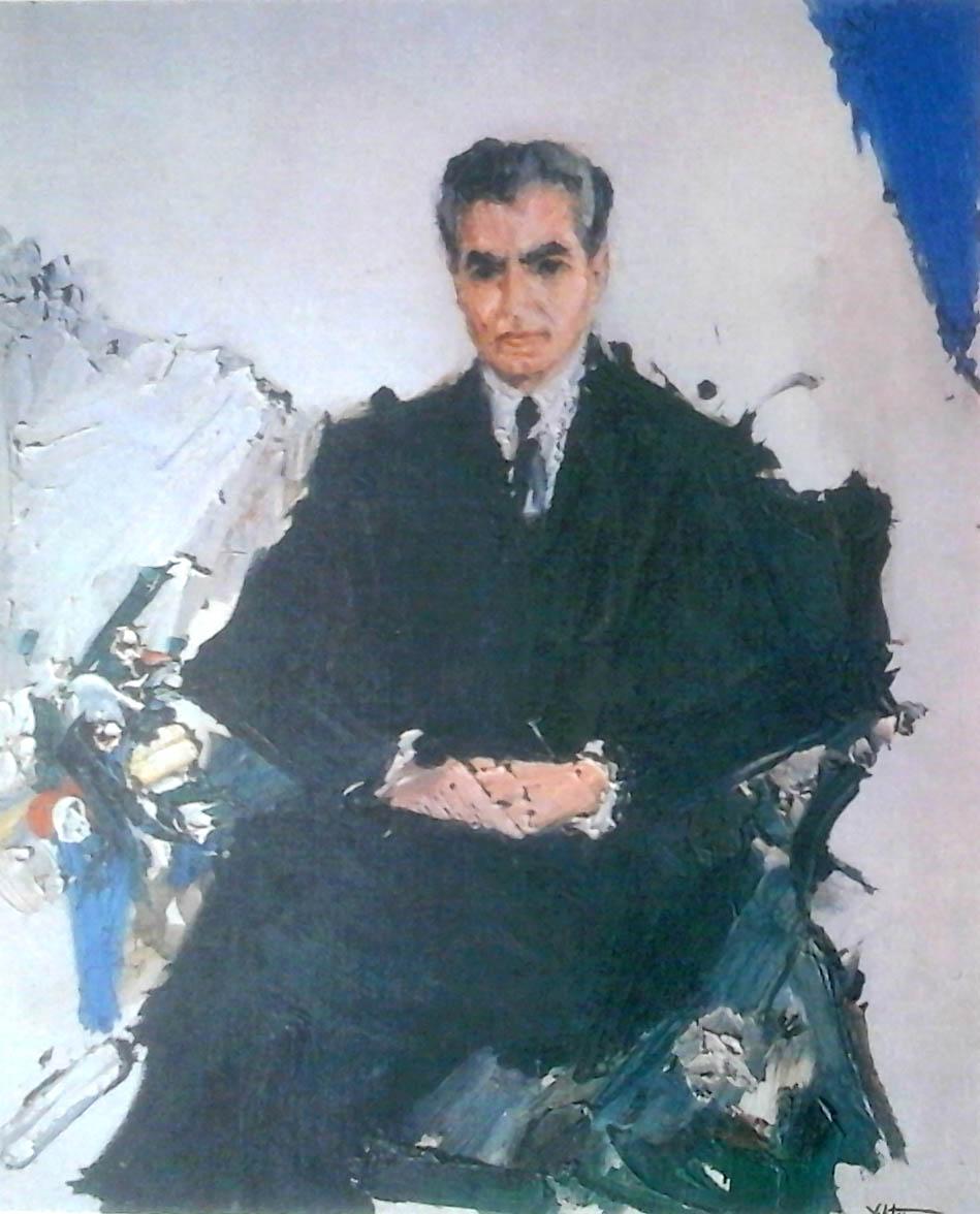 2. (1340s) Portrait of MohammadReza-Shah  نقاشی نوگرای ایران؛ میان مقاومت و تسلیم 2