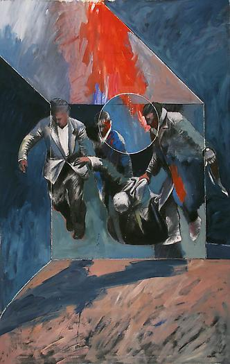 3. (1976) Untitled, oil and charcoal on canvas - 2