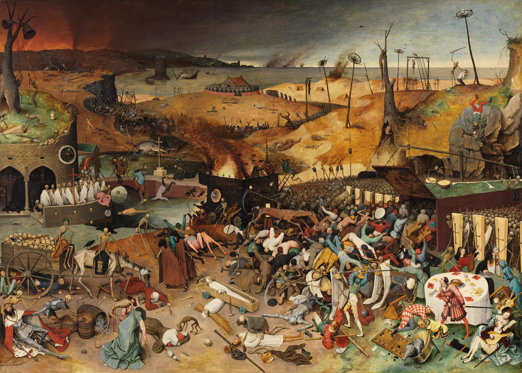 پیروزی مرگ- پیتر بروگل-1562 وانیتاس،میلاد سیاح،پیتر بروگل وانیتاس؛ نجوای مرگ                                         1562