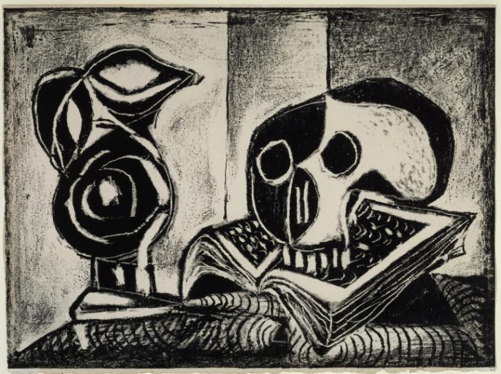 Black Jug and Skull 1946 Pablo Picasso 1881-1973 Bequeathed by Elly Kahnweiler 1991 to form part of the gift of Gustav and Elly Kahnweiler, accessioned 1994 http://www.tate.org.uk/art/work/P11365