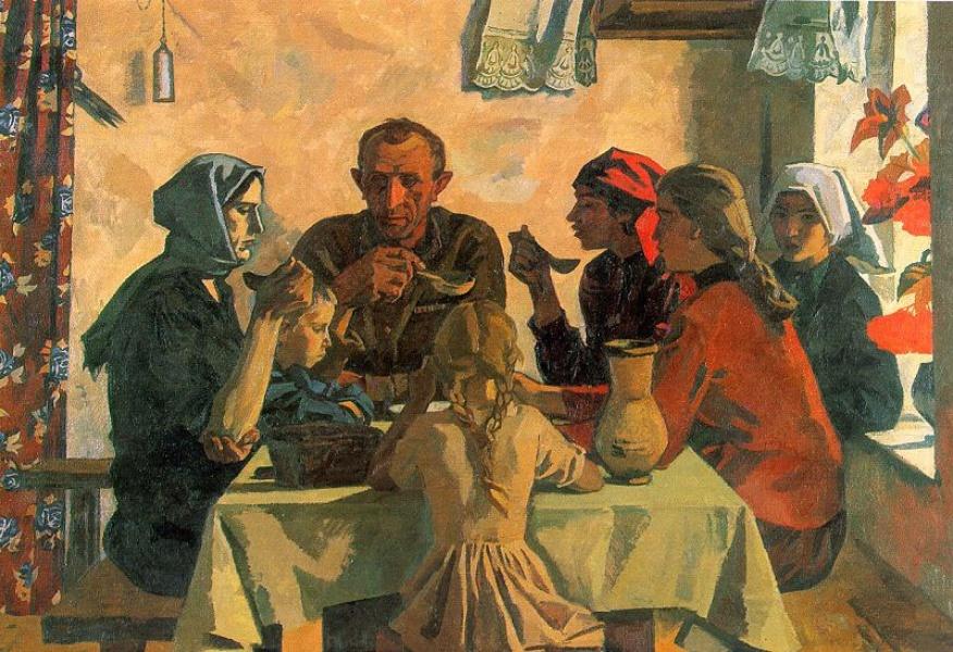 خانواده- ویکتور ایوانف- ۱۹۶۴-۵  چرا نقاشی واقعگرای سوسیالیستی شایسته نگاهی دوباره است؟