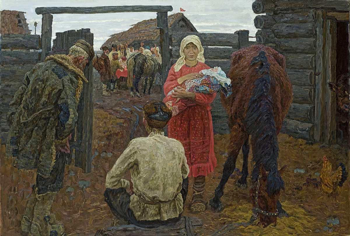 در_مزرعه_الکسی_و_سرگئی_تکاچیف_۱۹۷۰  چرا نقاشی واقعگرای سوسیالیستی شایسته نگاهی دوباره است؟