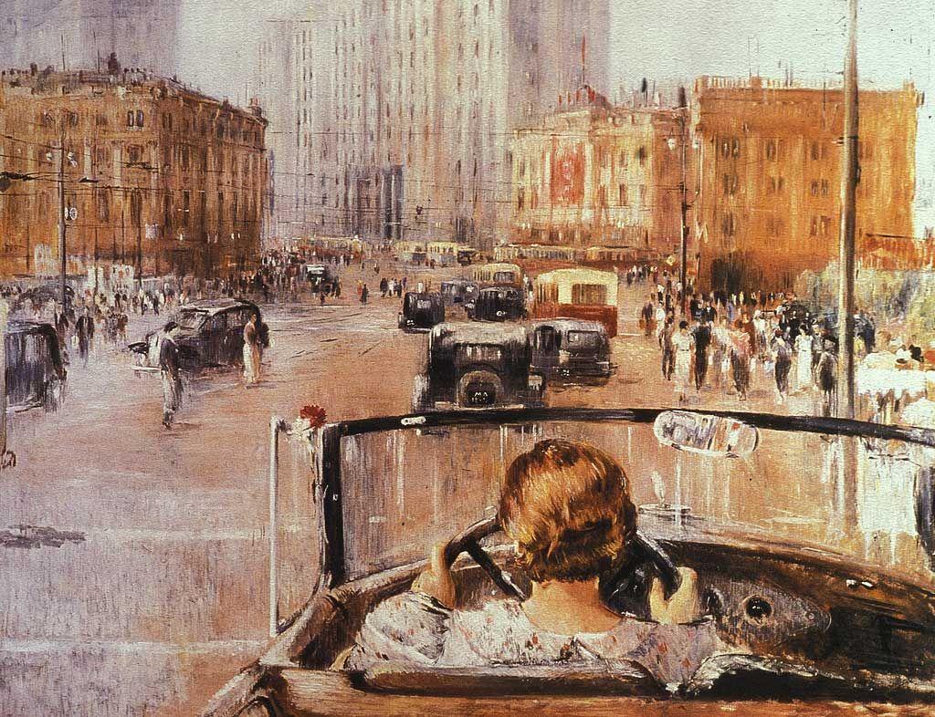 مسکوی جدید- یوری پیمنوف- ۱۹۳۷  چرا نقاشی واقعگرای سوسیالیستی شایسته نگاهی دوباره است؟