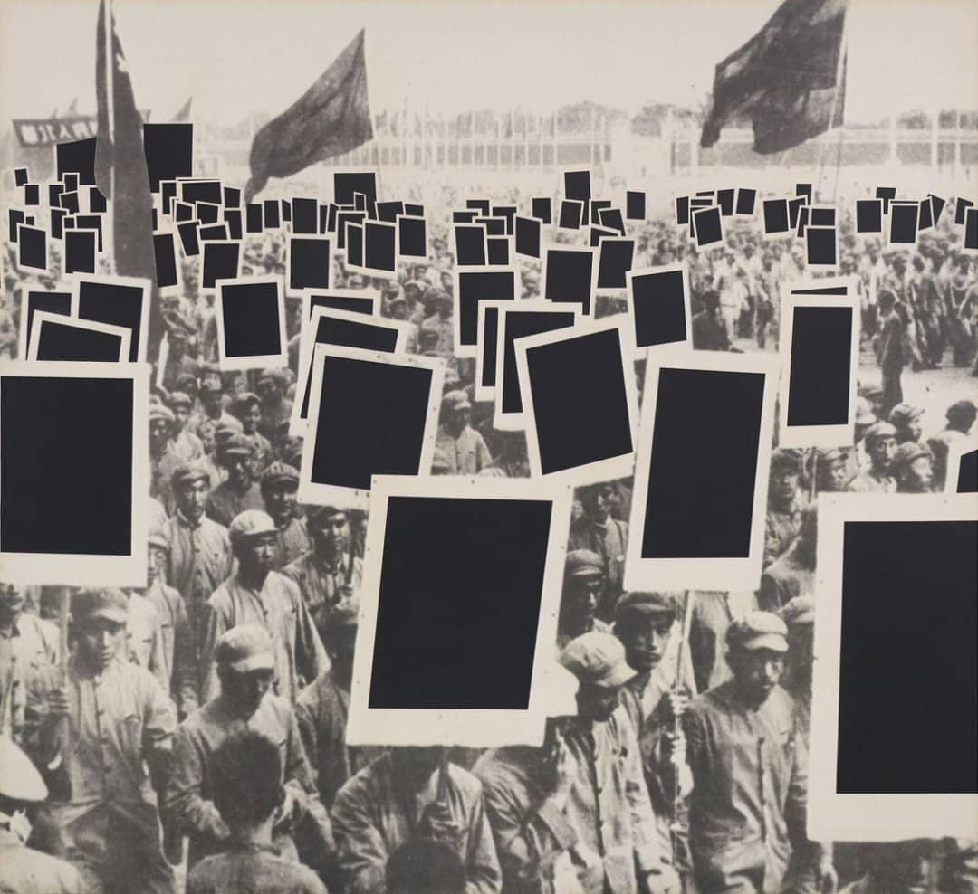آنت لیمو، «تودهی سیاه»، لاتکس، آکریلیک، و رنگ روغنی روی بوم، ۲۴۳.۴ در ۲۶۶.۷ در ۴.۶ سانتیمتر، ۱۹۹۱. هنر، بوریس گرویس، بهسوی یک جهانیباوری نوین WhatsApp Image 2020 04 17 at 12